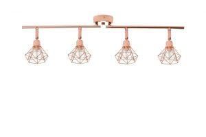 Bild von BELIANI Deckenlampe Kupfer ERMA