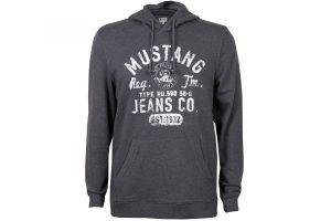 Bild von Mustang Herren Kapuzenpullover Sweatshirt mit Logo Print