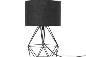 Bild von BELIANI Tischlampe schwarz 35 cm TETON