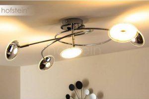 Bild von Trio Leuchten Trio PILATUS Deckenleuchte LED Chrom, 5-flammig – Design