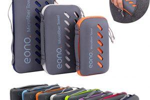 Bild von Eono by Amazon – Mikrofaser Handtücher in 8 Farben – Saugfähig, Leicht, Schnelltrocknend, Perfekte Badehandtücher, Reisehandtücher, Sporthandtücher, Strandhandtuch, Sauna Handtuch, Microfiber Towel