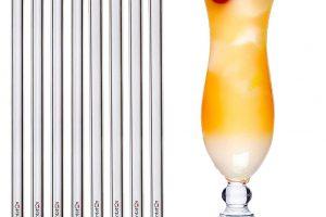 Bild von Pentaton Glas Strohhalme 8 Stück & 4 Reinigungsbürsten, Trinkhalme aus Borosilikatglas