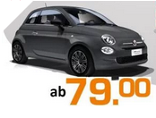 Produktbild von Privatleasing Aktion: Fiat 500 1.2 8V Pop Star ab 79€ / mtl. + 48 Monate + 10.000 km p.a. + ohne Bereitstellungskosten!