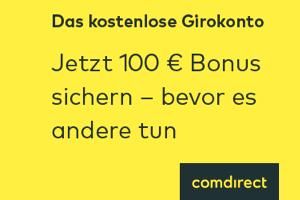 Produktbild von Schnell sein: kostenloses Girokonto + 100 € + kostenlose girocard & Visa + kostenlos Bargeldabhebung