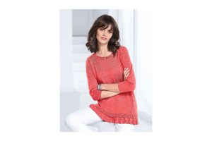 Bild von Peter Hahn Rundhals-Pullover 3/4-Arm Peter Hahn orange