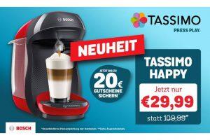 Bild von NEUHEIT TASSIMO HAPPY SPECIAL: TASSIMO HAPPY inkl. Gutscheinen im Gesamtwert von bis zu 20€** inkl. Versand