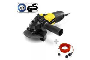 Bild von Trotec Winkelschleifer PAGS 10-115 + Qualitäts-Verlängerungskabel 15 m / 230 V / 1,5 mm²