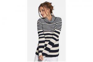Bild von Rollkragen-Pullover Basler mehrfarbig