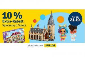 Bild von 10% Extra Rabatt auf Spielzeug mit dem Gutscheincode: SPIELGS