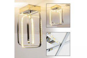 Bild von hofstein Sepino Deckenleuchte LED Chrom, 1-flammig – Design/Junges Wohnen