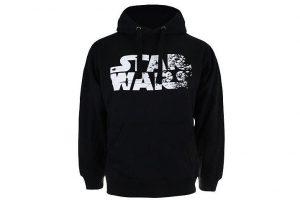 Produktbild von Star Wars Hoodie Rebel Text Logo schwarz