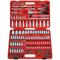 Bild von FAMEX Steckschlüsselsatz 525-SD-21, 174-tlg. für High-End-Mechaniker rot