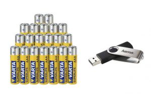 Bild von Varta Superlife Micro (AAA) Batterie -20er Pack + 16 GB USB Stick