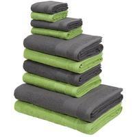 Bild von my home Handtuch Set Afri, mit tollen Farbkombinationen (10-tlg. Set) grün