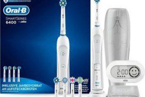 Bild von Oral B Elektrische Zahnbürste SmartSeries 6400, Aufsteckbürsten: 5 St., Premium-Reisezubehör