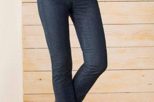 Bild von Walbusch Damen Passform-Jeans Slim Fit Slim Fit einfarbig Jeansblau