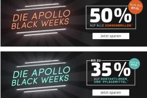 Bild von Apollo.de Black Week – Brillen, Sonnenbrillen, Kontaktlinsen und Zubehör bis zu 50% reduziert!