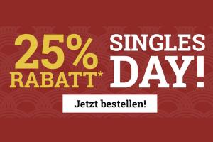 Bild von SinglesDay Rabatte warten auf Dich! 25% Rabatt auf unzählige Angebote!