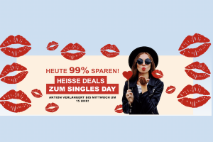 Bild von Nur bis 15 Uhr: Bis zu 99% Rabatt + gratis Erotikartikel – 5,97€ Versandkosten