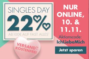 Bild von WOW! 22% Rabatt auf fast ALLES zum SinglesDay! *Nur HEUTE*