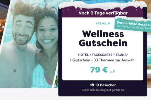 Bild von Wellness-Gutschein: Übernachtung inkl. Frühstück + Eintritt in eine von 33 Thermen + Sauna für 79€ p.P.