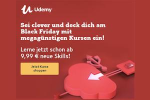 Produktbild von Mega Black Friday Sale: Bis zu 91% Rabatt auf tausende Top-Kurse! Kurse ab 9,99€