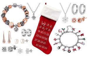 Bild von Philip Jones Weihnachtsstiefel-Adventskalender mit Schmuck-Set nach Wahl verziert mit Kristallen von Swarovski®