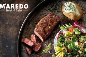 Produktbild von 250 g MAREDO Steak mit Salat und Dessert für 2 oder 4 Personen in allen Maredo Restaurants (bis zu 40% sparen*)
