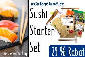 Produktbild von Asiafoodland – Sushi Starter-Set 2.0 – alles was man braucht und noch etwas mehr – für 2 bis 4 Personen