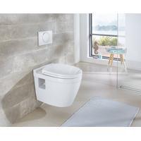 Bild von Wand WC Dover, Keramik Toilette inkl. WC-Sitz mit Softclose weiß