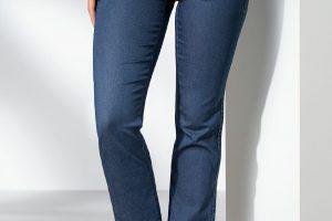 Bild von Walbusch Damen Jeans Hose Regular Fit Blau einfarbig elastisch flexibler Bund