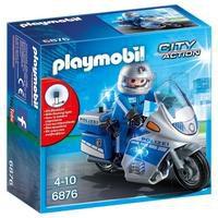 Bild von Playmobil® Konstruktionsspielsteine Motorradstreife mit LED-Blinklicht (6876), City Action