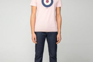 Bild von Ben Sherman Main Line Pale Pink Target T-Shirt Medium Pale Pink