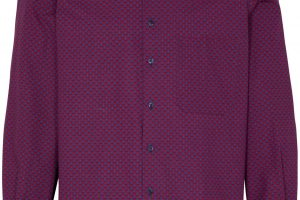 Bild von Eterna Langarm Hemd Comfort Fit Popeline Rot/Blau Bedruckt rot
