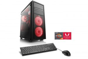 Bild von CSL Gaming PC, Ryzen 3 2200G, Radeon Vega 8, 8 GB DDR4, SSD »Sprint T8390 Windows 10 Home«, schwarz