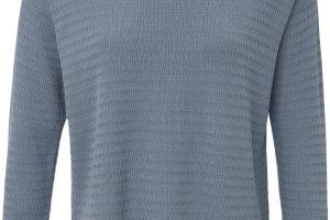Bild von Rundhals-Pullover in 2-in-1-Optik Peter Hahn blau