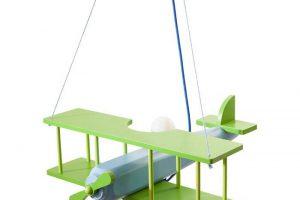 Bild von Waldi Kinderlampe Flugzeug Bunt Holz