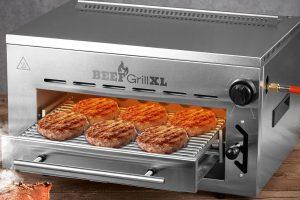Bild von GOURMETmaxx BEEF Grill XL Oberhitze-Gasgrill mit Edelstahlgehäuse
