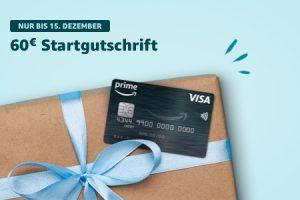 Bild von 60 € Startgutschrift für die Amazon.de Prime VISA Karte nur noch bis zum 15. Dezember